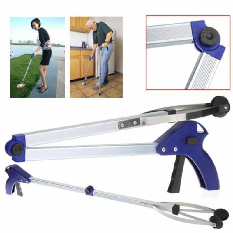 Convenient Foldable Garbage Pick Up Tool Grabber Reacher Stick Reaching Grab Extend Reach Garbage Clip Household Item