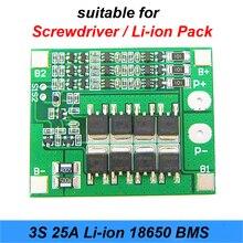 3S 25A 40A BMS PCM Batterie Schutz Bord BMS PCM Mit Balance Für li-ion Batterie Zelle Pack Modulefor Schraubendreher li-ion 18650