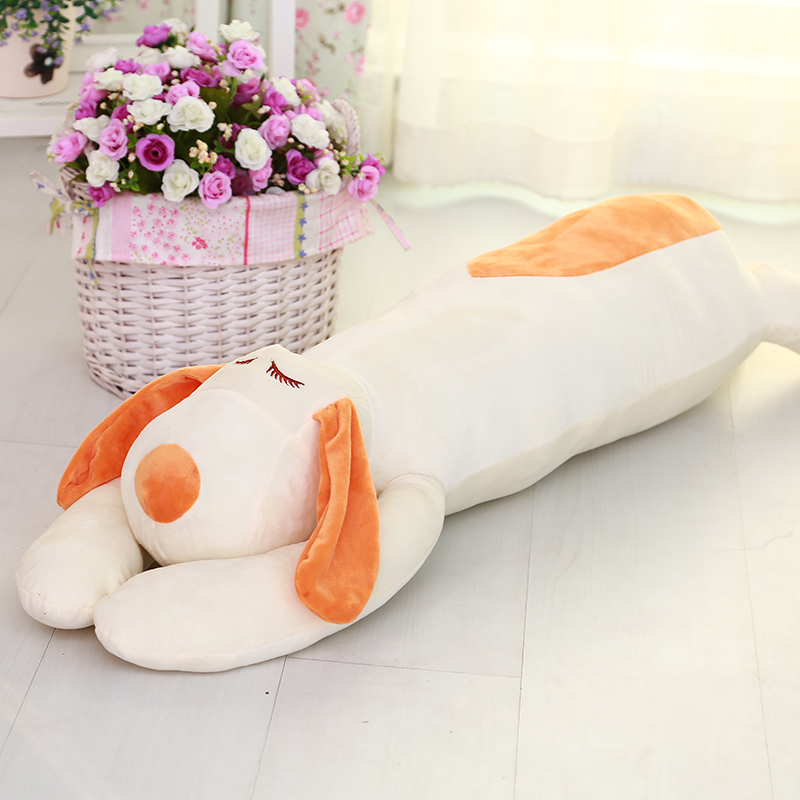 lovely sleeping dog plush toy large 150cm prone dog soft throw pillow, Christmas birthday gift F010 fancytrader 120cm super lovely jumbo plush shar pei dog toy large dog doll sleeping pillow gift for child free shipping ft50048
