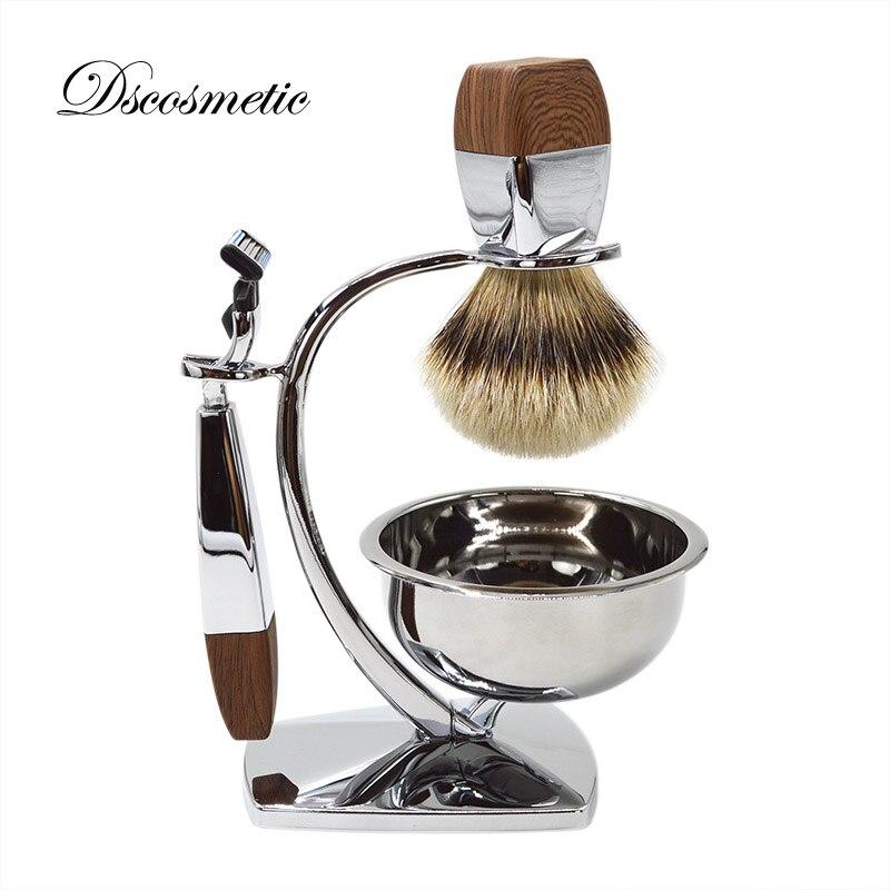 luxury silvertip badger hair shaving brush very good quality shaving bowl mug shaving stand shaving razor