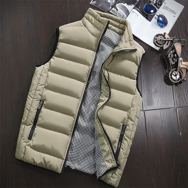 Vest Men 2019 Spring Autumn Male Sleeveless Jacket Coat Lovers Stylish Padded Down Vest Men Waistcoat Brand Cloths Plus Size 5XL 16