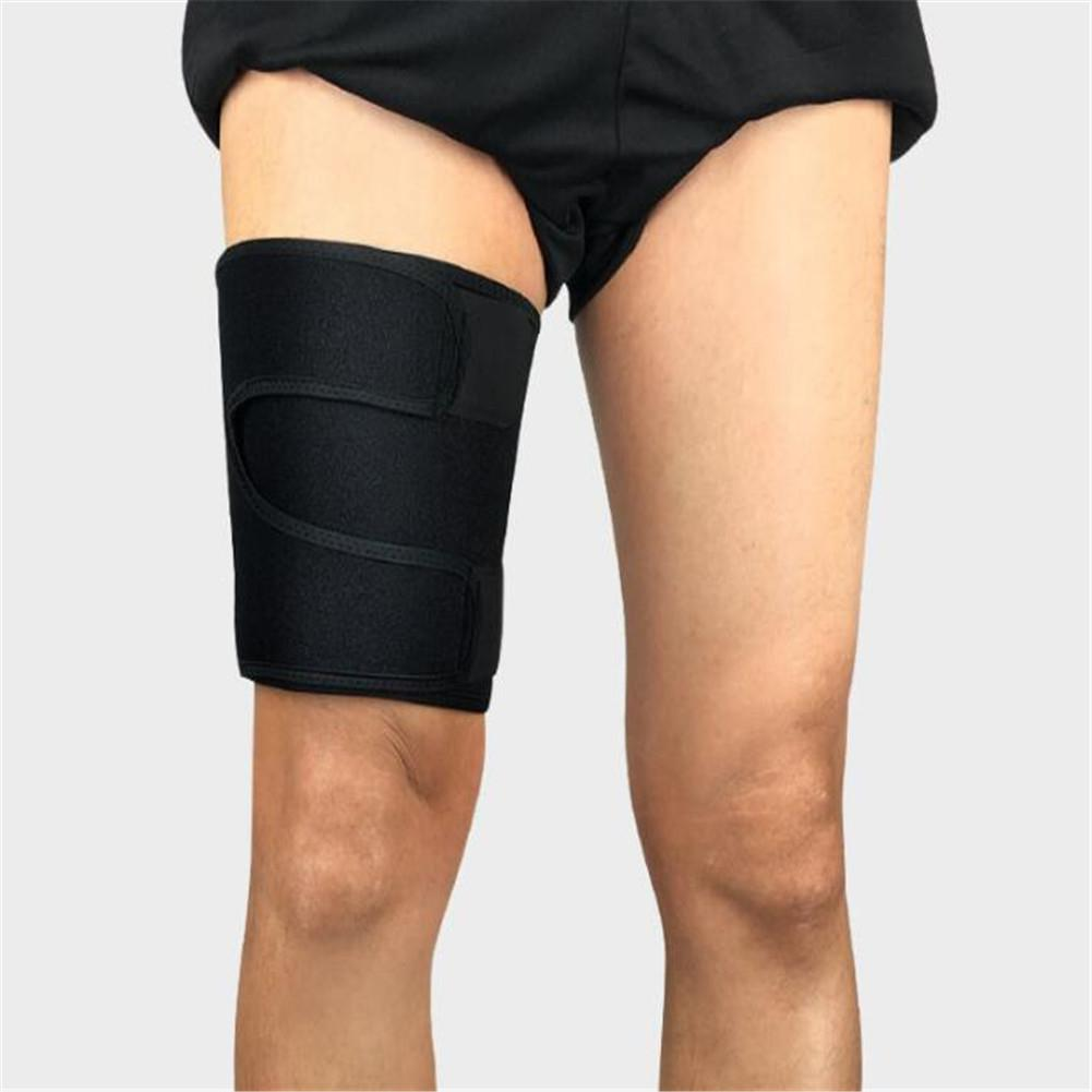 Mounchain Adjustable Thigh Protection Belt Sports Compressed Leg Cover Muscle Protection Pad