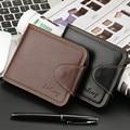 2016 New Famous Brand Organizer Baellerry Business Leather Short Men Wallet Fashion Design Large Capacity Men Wallets Purse N050