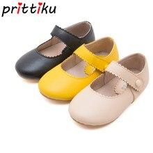 ฤดูใบไม้ผลิ2020เด็กทารกเด็กวัยหัดเดินRetro Mary Janeรองเท้าเด็กเล็กไมโครไฟเบอร์หนังLoafersเด็กสีเหลืองสีดำBeigeเดินรองเท้า