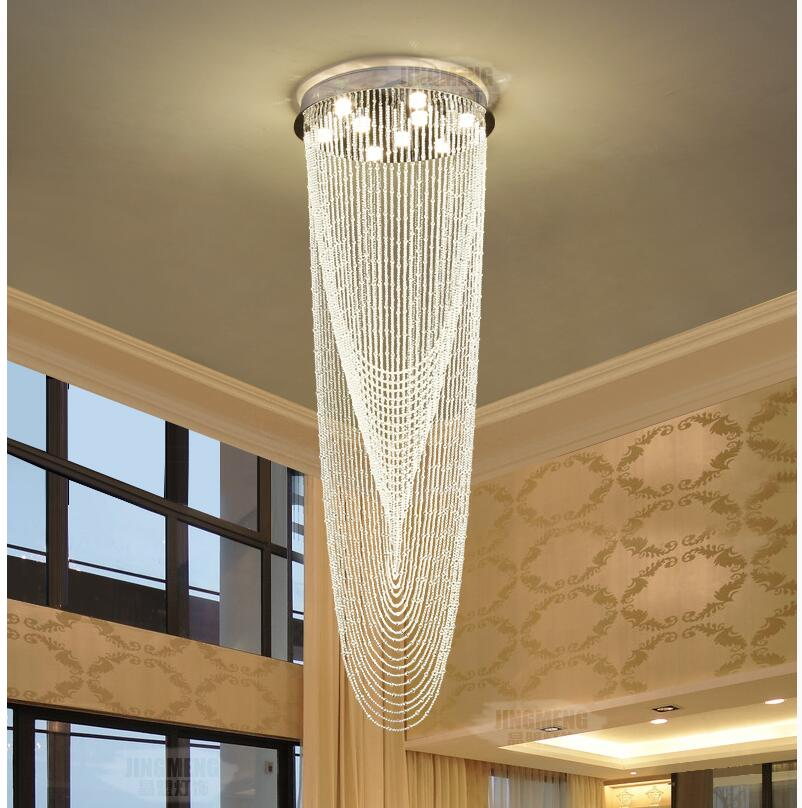 Hot Selling Modern LED Pendant Light for Dining Room LED Modern Lamps Fixtures with Clear Crystal Staircase Hotel Lobby Pendant free shipping hot selling 1m pcs led aluminum profile for led strips with milky or clear cover and end caps clips