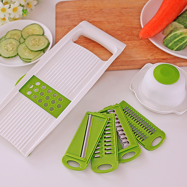 Cut For Cucumber Slices Chopped Vegetables Dumplings For Planing Grater Potato Shredding Device Green Kitchen Accessories