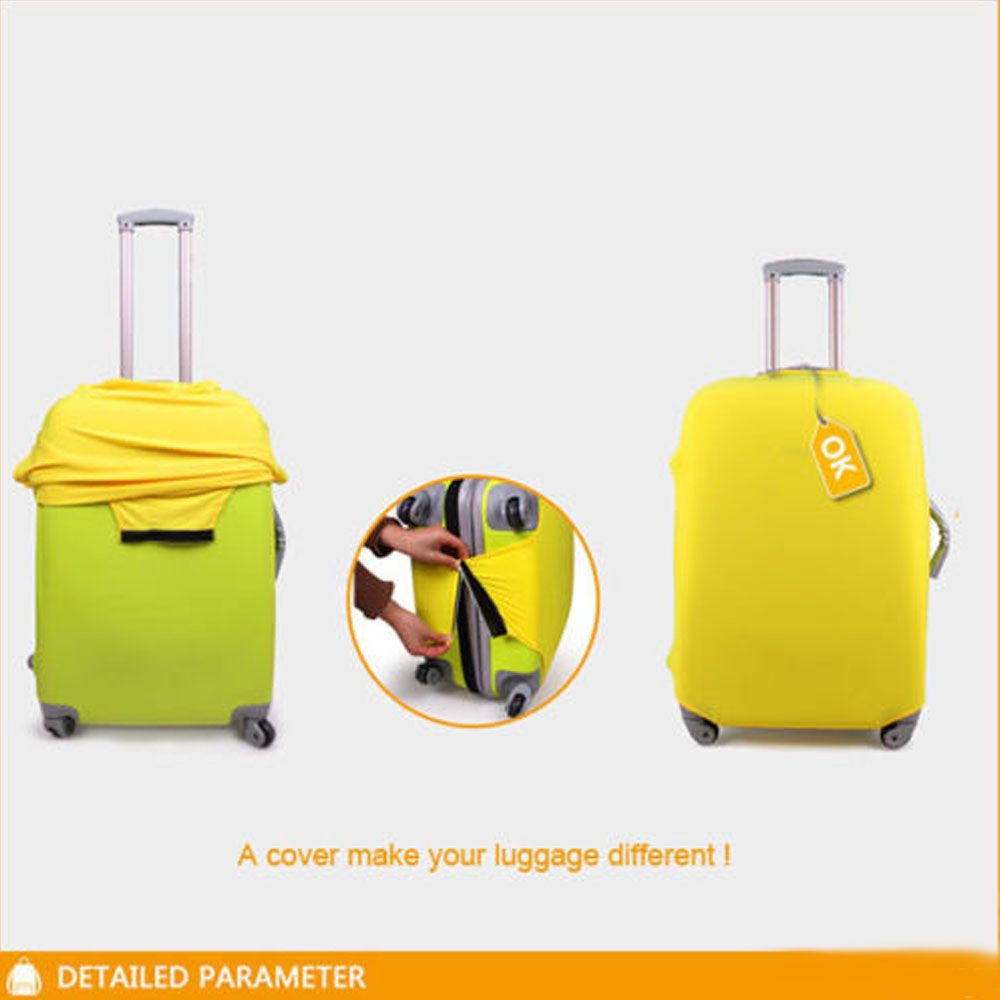 FORUDESIGNS Travel Luggage Cover 3D Camera Style Trolley Suitcase Cover Elasticity Case Protect Dust Case Travel Accessories