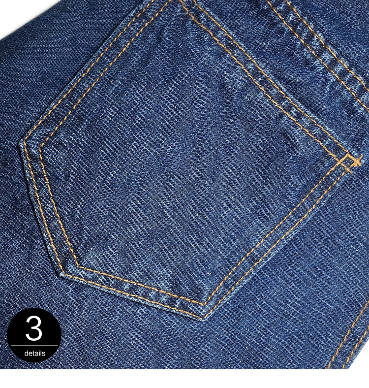 [EAM] New Spring 19 Fashion High Waist Patchwork Hit Color Detachable Blue Jeans Straight Denim Pants Women SC08 10