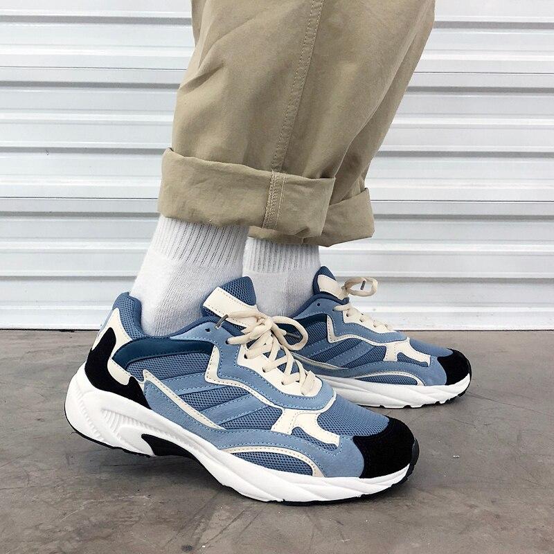 2019 Casual Men Mesh Chunky Sneakers Designer 500 Spring Comfortable Platform White Sneakers Men  Footwear Zapatillas Hombre