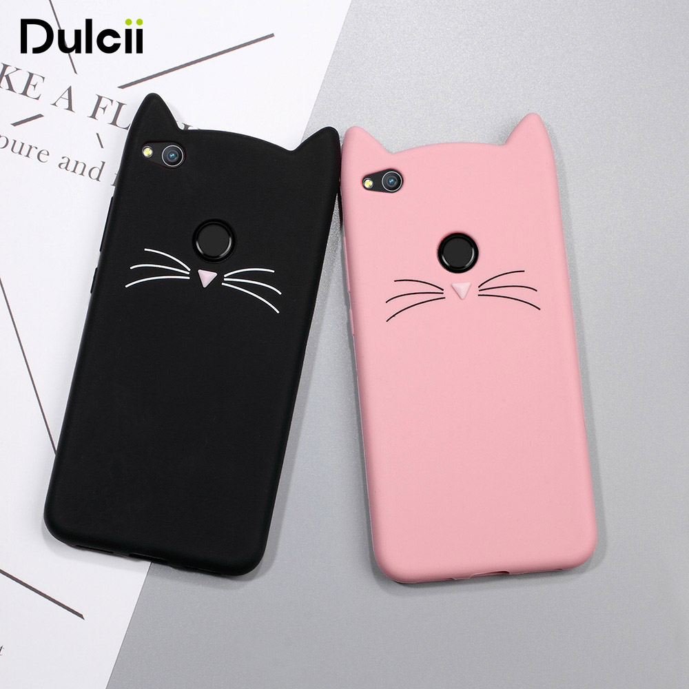 DULCII Cat Phone Case for Huawei P8 Lite (2017) Cute ...
