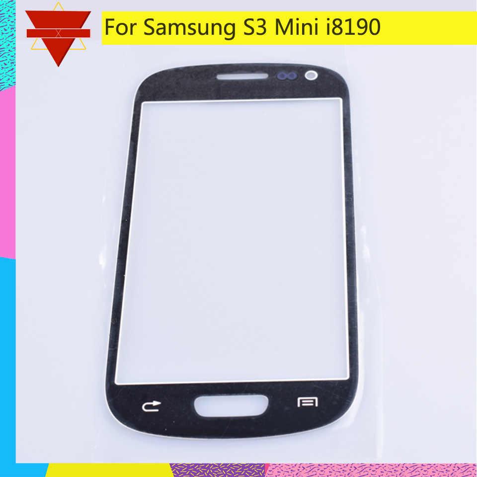 S3Mini لمس لسامسونج غالاكسي S3 mini i8190 8190 شاشة تعمل باللمس اللوحة الأمامية زجاج عدسة الخارجي لا استبدال شاشة الكريستال السائل