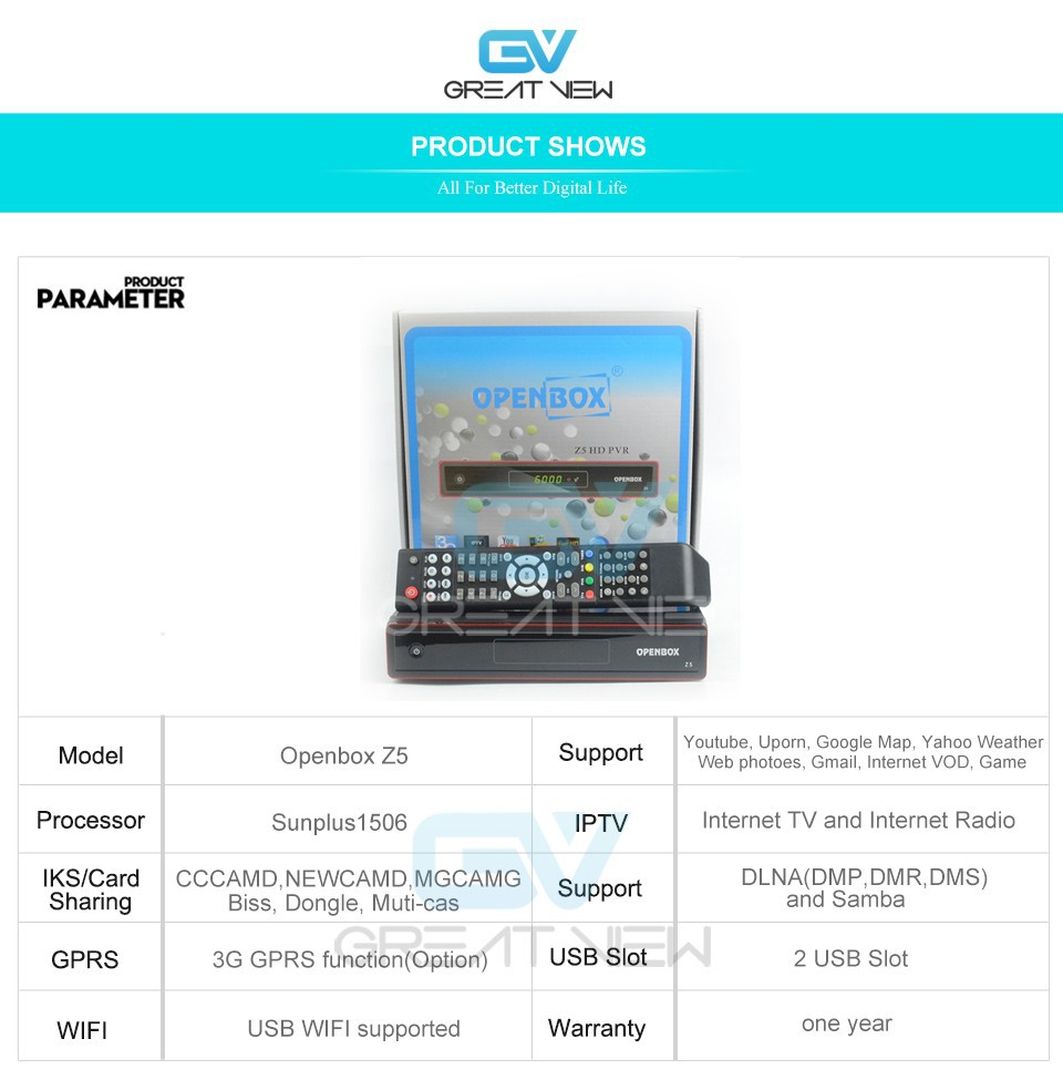 US $39 99 |Openbox Z5 1080p Full HD H 265 HEVC satellite receiver, IPTV,  youtube, online video, DLNA-in Satellite TV Receiver from Consumer