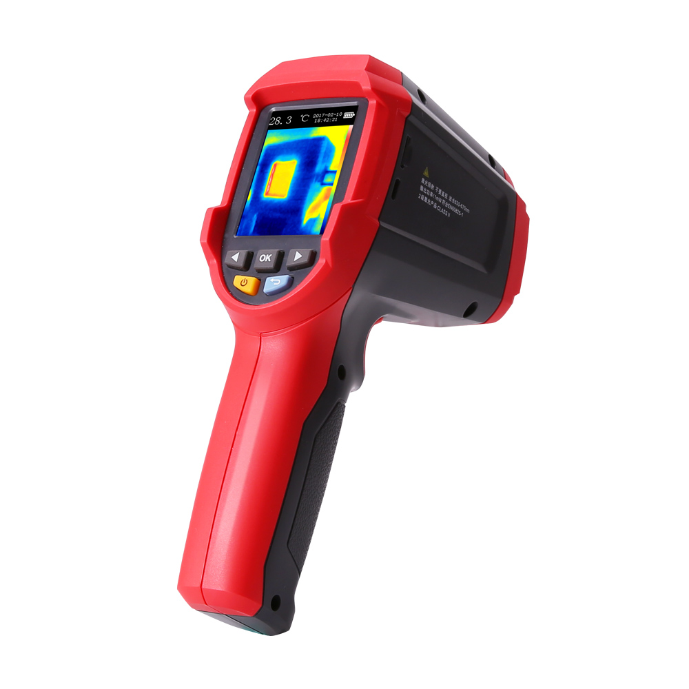 UNI-T UTi80 Non-contact Handheld Infrared Thermometer Thermal Imager Tester Digital Temperature Instruments -30-400C LCD Display 2 2 lcd digital thermometer handheld temperature tester 1 x 9v 6f22