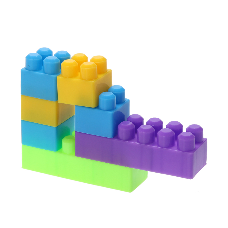 46Pcs Plastic Children Kid Puzzle Educational Building Bricks Toy DIY Creative Bricks Toys for Children Toys