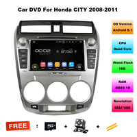 8 Inch Car Radio For Honda City Quad Core Android 5 11 Car Dvd Player With