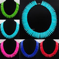 Free shipping Fashion Jewelry Howlite Turquoise Graduated Stick Spike Choker Necklace Beads 16.5 Inches IBH031