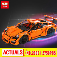 LEPIN 20001 Technic Series 911 GT3 RS Model Building Kits Mini Figures Blocks Bricks Boy Toys