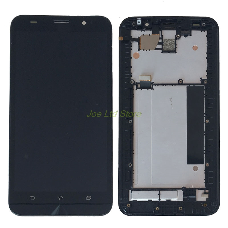 Подробнее о LCD With Frame For Asus ZenFone 2 ZE551ML LCD Display Touch Screen Digitizer With Front Housing Assembly Replacement Part black replacement part for asus zenfone 4 lcd display and touch screen digitizer assembly 1pc lot free shipping
