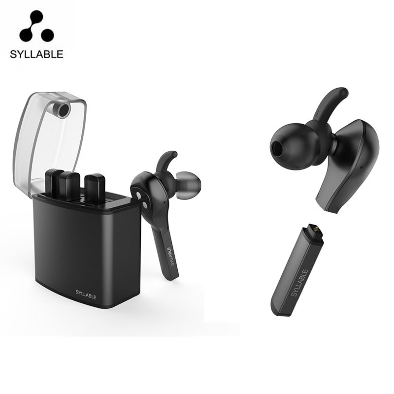 Syllable D9X TWS Detachable Battery Bluetooth Earphone Portable Lighter Charge case Bluetooth Headset Wireless Earbud for Phone hestia m9 tws bluetooth headset wireless earbud metal charge case bluetooth earphone for phone mic for calls for xiaomi huawei
