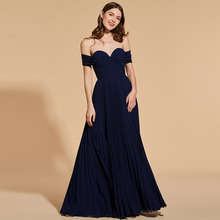 Tanpell off the shoulder prom dresses blue short sleeves floor length a line gown women evening party customed formal prom dress sky blue stripe off the shoulder 3 4 length sleeves bodycon dress
