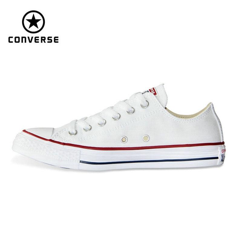 Новые оригинальные Converse All Star холст человек и женщин с низким классические кроссовки Обувь для скейтбординга черный цвет Бесплатная достав...