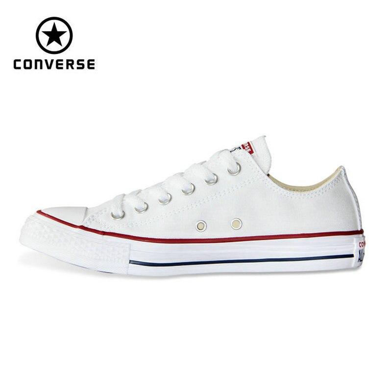 Nuevo original Converse all star hombre lienzo y mujeres de bajos zapatillas clásicas Zapatillas de skateboarding negro envío libre del color 101000