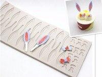 Hurtownie, uszy królika łuk wkładki formy silikonowe formy czekoladowe