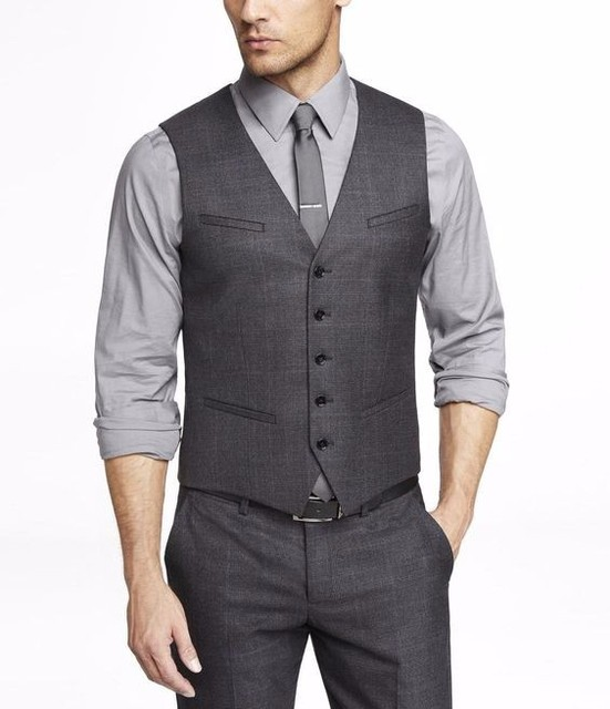 1b6144be23 Traje gris Chalecos para hombres slim fit por encargo para hombre chalecos  de boda mejor hombre