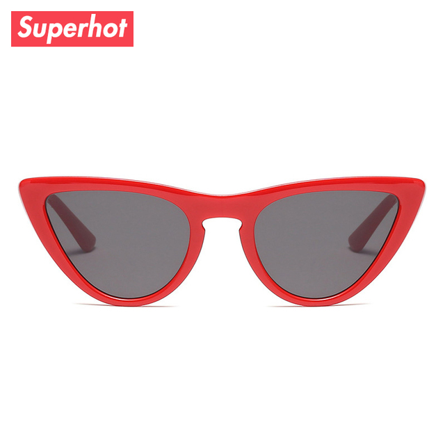9a312fd74e Superhot Eyewear - Cat Eye Sunglasses Fashion Women Sun glasses Shades  Retro White Red Black Cute