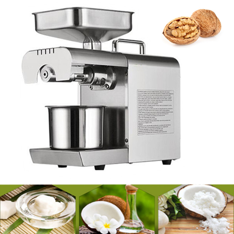 Newest 110V/220V Commercial Sunflower Oil Press Machine High Oil Extraction Rate Peanut Sesame Oil Press Machine Price For Home feeding value of sesame oil cake for broilers