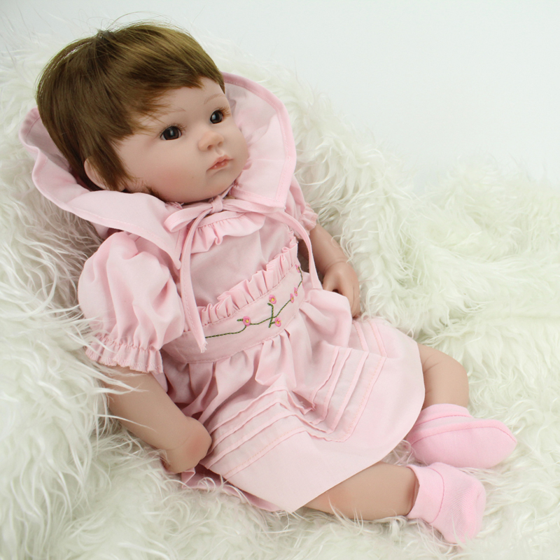 16inch 40cm Reborn Baby Doll Soft Silicone Lifelike Doll-reborn Accompany Sleep Toy Pink Princess Doll for Girls Christmas Gifts кукла 44271926101 usa berenguer reborn baby doll