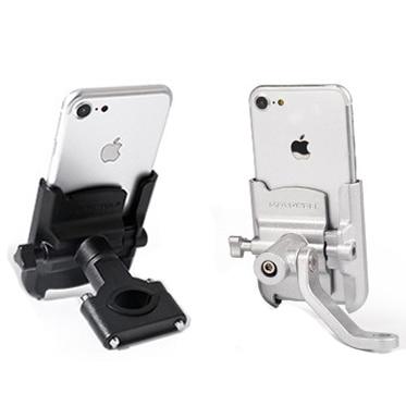 Kierownica ze stopu aluminium lusterko wsteczne stojak na telefon uniwersalna rowerowa rowerowa uchwyt na telefon do motocykla uchwyt motocyklowy