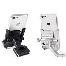 Soporte Universal de teléfono para motocicleta de aleación de aluminio, soporte para teléfono, soporte para Moto y GPS, soporte para manillar de bicicleta para iPhone y Android