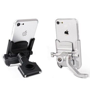 Universal Aluminum Alloy Motorcycle Phone Holder Support Telephone Moto Holder For GPS Bike Handlebar Holder For iPhone Android