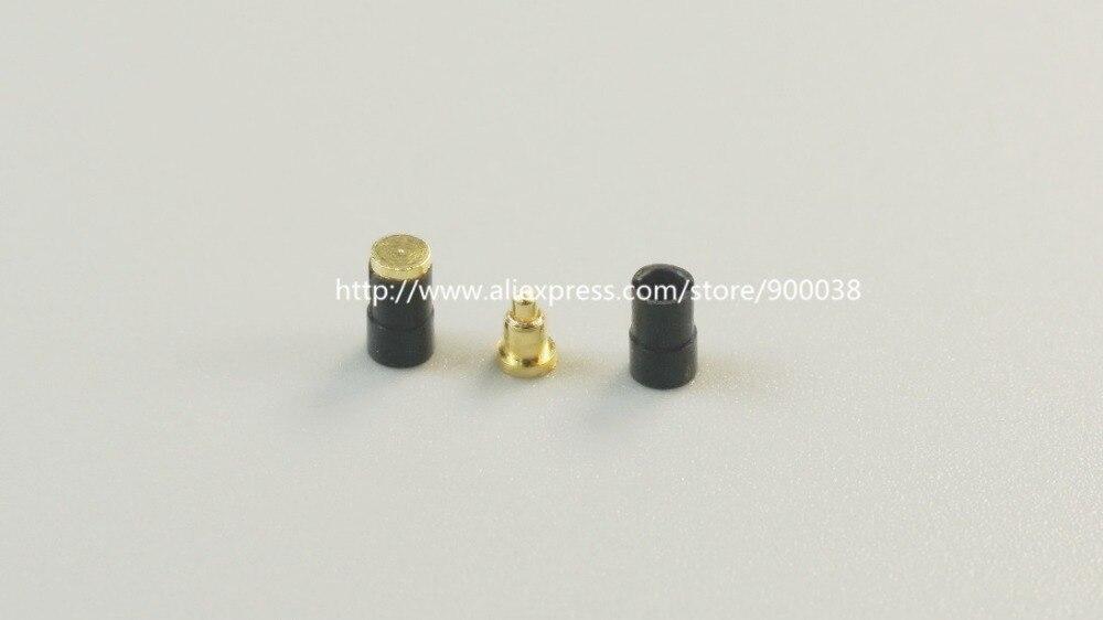 10 Pcs Spring Loaded Pogo Pin Connector 2.0 Mm Diameter SMT / SMD 3.0 Mm Height Brass Gold 1u 50G Force Re-flow Solder