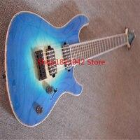 Custom shop! electric guitar wholesale guitarra guitarra 7 string acustica blue pattern cavaquinho instrumentos musicais