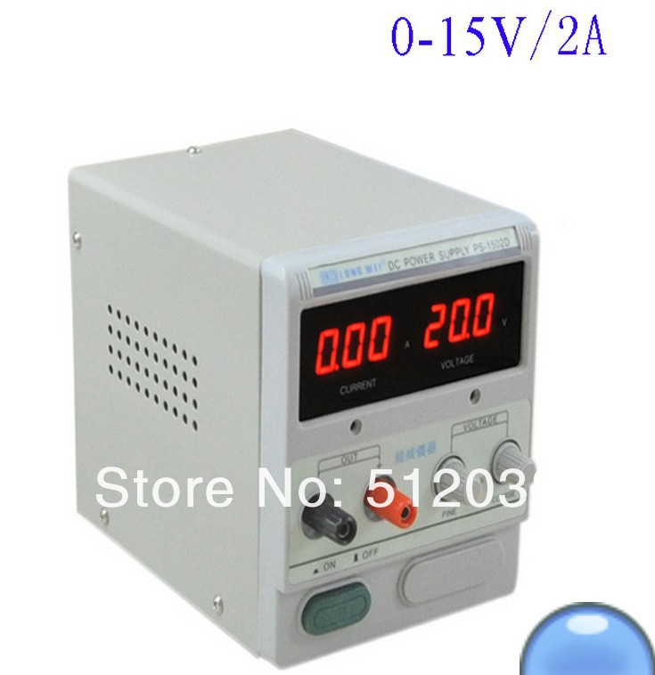 LW PS-<font><b>1502D</b></font> 0-15V/0-2A Digital DC POWER SUPPLY image