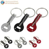 Universal Racing Sport Aluminum Alloy Mount Bonnet Hood Pin Lock Latch Kit Set for Auto Car ( Black / Silver / Red Optional )