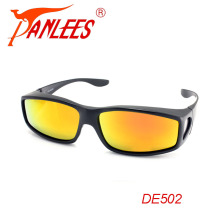PANLEES UV400 protective polarized lens fit over glasses cover outdoor sports running driving sunglasses goggle