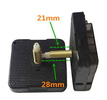 10 sets High Quality Quartz Silent Clock Movement Mechanism DIY Wall Repair replacement Parts Gold + Hands 28mm Shaft
