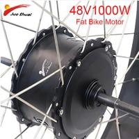 4.0 Fatbike Motor 48V 1000W Brushless Hub Motor Both Suit V brake Disc brake Waterproof Wire High Speed Rear E bike Motor Wheel