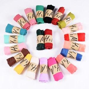Image 1 - Neue Ankunft 45*180 CM Klassische Premium Viskose Maxi Crinkle Wolke Hijab Schal Schal Weichen Islam Muslim Schals Winter mädchen Schal