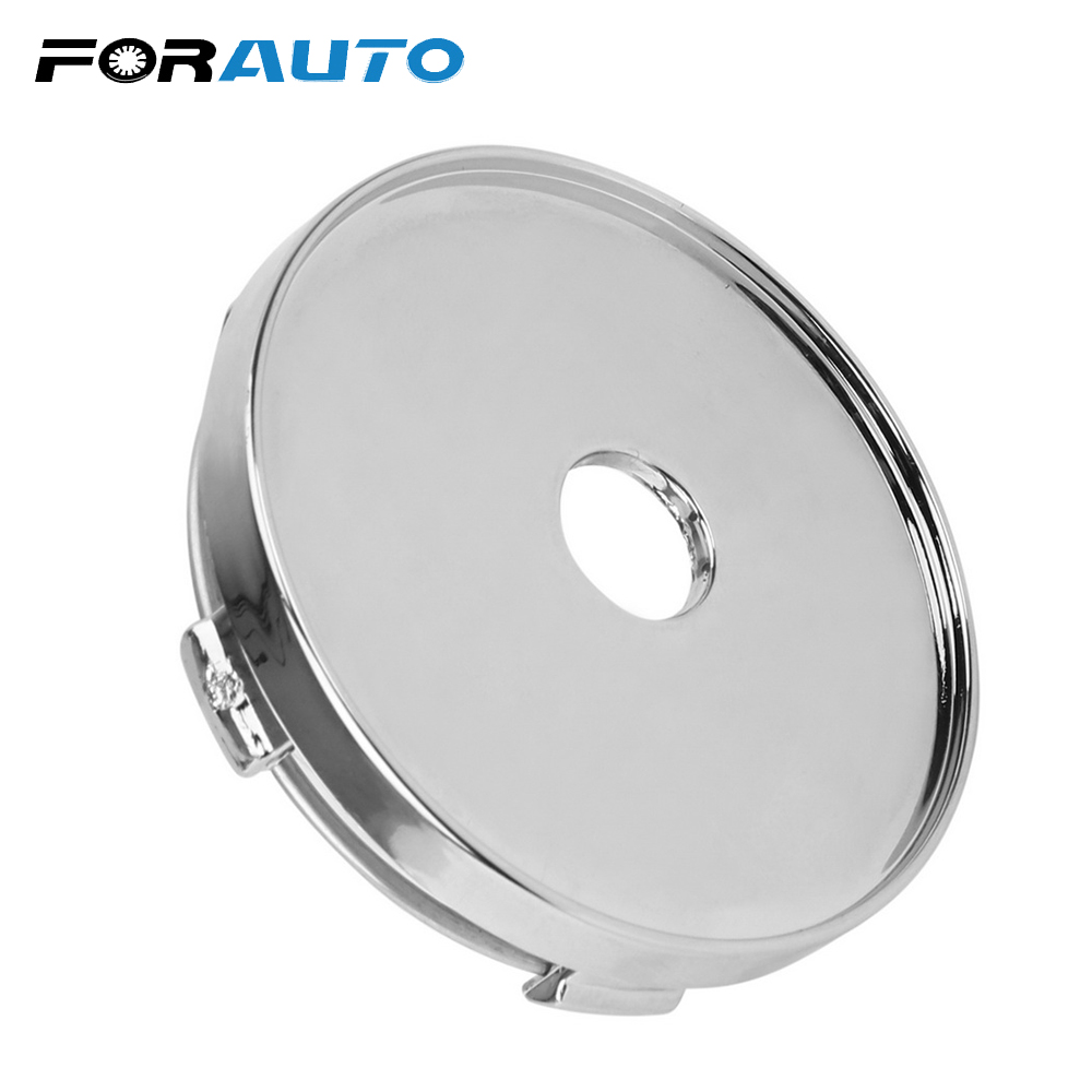 FORAUTO ABS Chrome Wheel Center Cap No Logo 60mm Silver Dust Cover Car Wheel Cover Auto Hubcaps Cover топливоснабжение no logo 7 10an auto