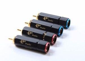 Image 3 - 8 pièces Palic haute qualité plaqué or RCA Plug Lock recueillir soudure A/V connecteur