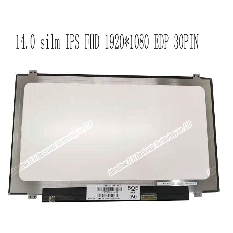 Écran d'affichage à cristaux liquides DE 14 POUCES NV140FHM-N41 NV140FHM-N42 B140HAN02.1 B140HAN02.0 LTN140HL05-301 LTN140HL02-201 LP140WF3-SPL2 LP140WF3-SPL1