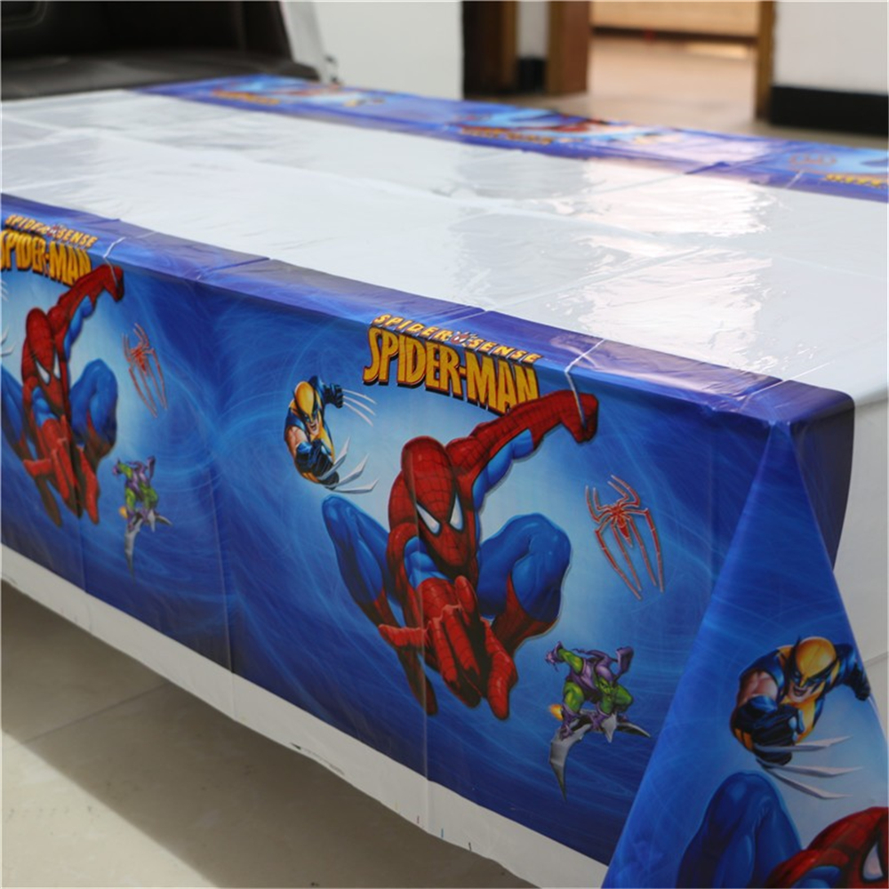 1pcs Spiderman Theme Party Disposable Plastic Tablecover 108*180cm Tablecloth/map For Kids Happy Birthday Party Tableware