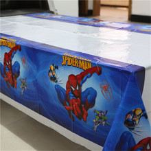 1 Pcs Spiderman Theme Pesta Disposable Plastik Tablecover 108*180 Cm Taplak Meja/Peta untuk Anak-anak Happy Ulang Tahun Pesta peralatan Makan(China)
