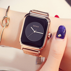 Image 3 - GUOU レロジオ Feminino 2019 ラグジュアリーウォッチ女性の腕時計ファッションローズゴールドレディース腕時計時計女性 saat リロイ mujer