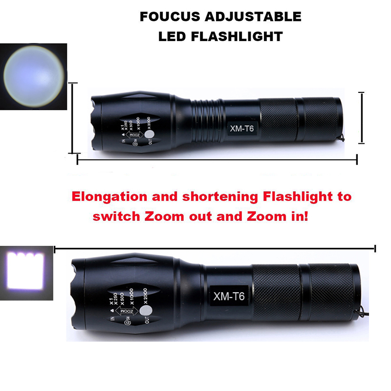 LED flashlight Tactical Bicycle light 4000 Lumens CREE XM-L T6 Zoomable 5 ModesLanterna LED Torch bike light For riding Camping