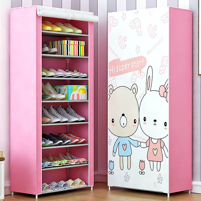 New Shoe cabinet 9-layer 8-grid 3D drawing Non-woven fabrics large Shoe rack organizer removable shoe storage for home furniture new shoe cabinet 9 layer 8 grid 3d drawing non woven fabrics large shoe rack organizer removable shoe storage for home furniture